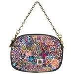 Ornamental Mosaic Background Chain Purses (One Side)  Front