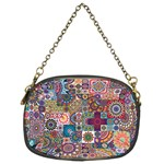 Ornamental Mosaic Background Chain Purses (Two Sides)  Front