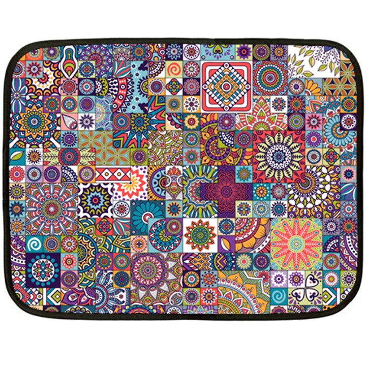 Ornamental Mosaic Background Fleece Blanket (Mini)