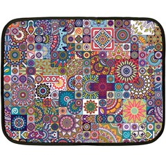 Ornamental Mosaic Background Double Sided Fleece Blanket (mini)