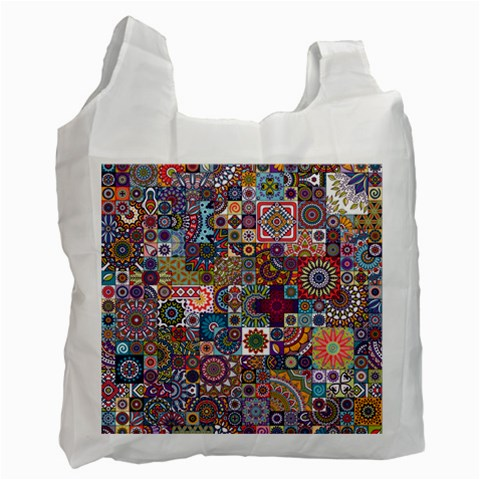 Ornamental Mosaic Background Recycle Bag (Two Side)