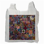 Ornamental Mosaic Background Recycle Bag (Two Side)  Back