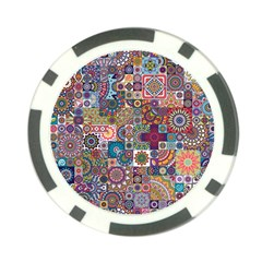 Ornamental Mosaic Background Poker Chip Card Guards (10 pack)