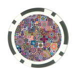 Ornamental Mosaic Background Poker Chip Card Guards (10 pack)  Front