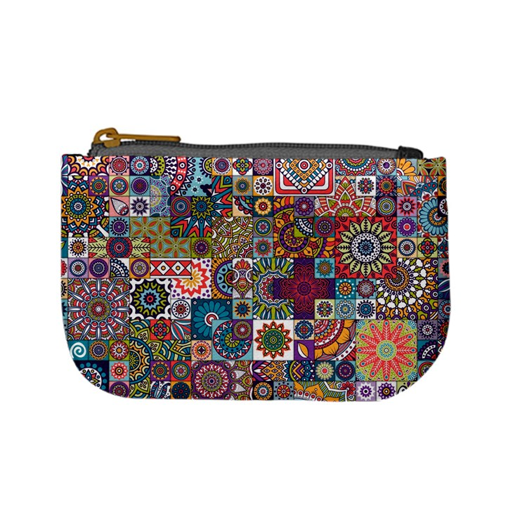 Ornamental Mosaic Background Mini Coin Purses