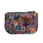 Ornamental Mosaic Background Mini Coin Purses Back