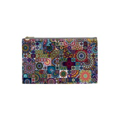 Ornamental Mosaic Background Cosmetic Bag (Small)