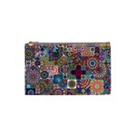 Ornamental Mosaic Background Cosmetic Bag (Small)  Front