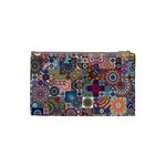 Ornamental Mosaic Background Cosmetic Bag (Small)  Back