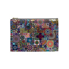 Ornamental Mosaic Background Cosmetic Bag (medium)