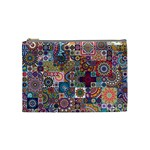 Ornamental Mosaic Background Cosmetic Bag (Medium)  Front