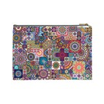 Ornamental Mosaic Background Cosmetic Bag (Large)  Back