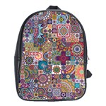 Ornamental Mosaic Background School Bags(Large)  Front
