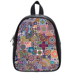 Ornamental Mosaic Background School Bags (small)
