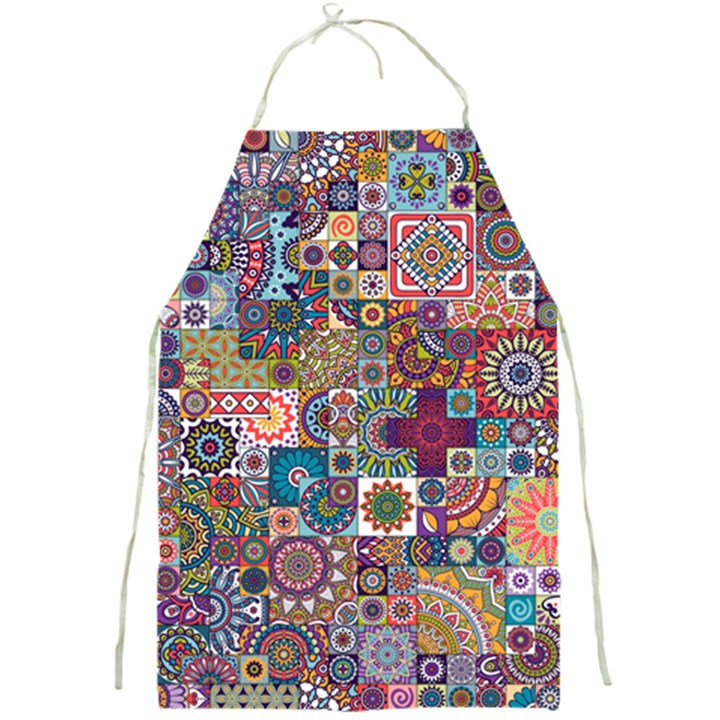 Ornamental Mosaic Background Full Print Aprons