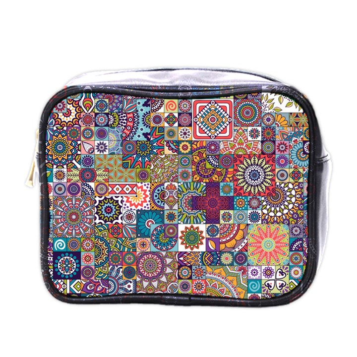 Ornamental Mosaic Background Mini Toiletries Bags