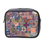 Ornamental Mosaic Background Mini Toiletries Bag 2-Side Front