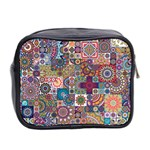 Ornamental Mosaic Background Mini Toiletries Bag 2-Side Back