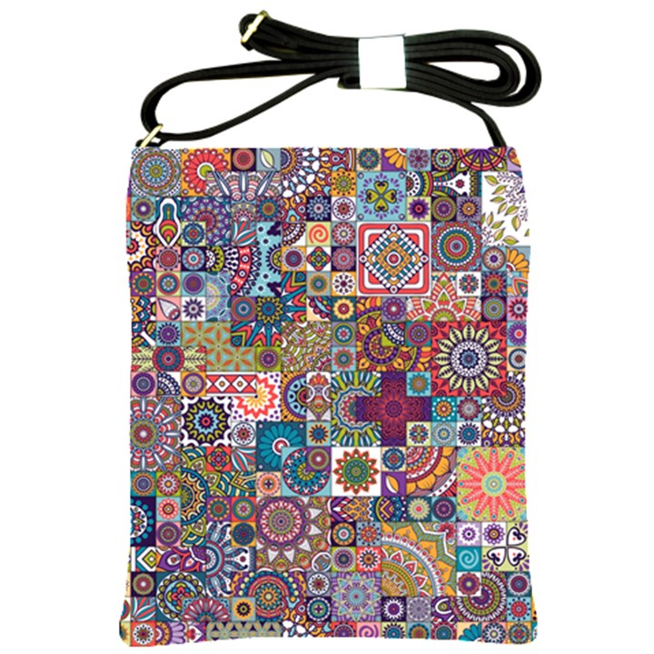 Ornamental Mosaic Background Shoulder Sling Bags