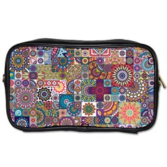 Ornamental Mosaic Background Toiletries Bags 2 Side