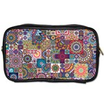 Ornamental Mosaic Background Toiletries Bags 2-Side Front