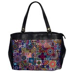 Ornamental Mosaic Background Office Handbags Front