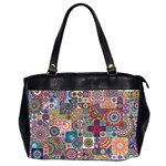 Ornamental Mosaic Background Office Handbags (2 Sides)  Front