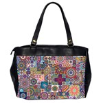 Ornamental Mosaic Background Office Handbags (2 Sides)  Back