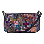 Ornamental Mosaic Background Shoulder Clutch Bags Front