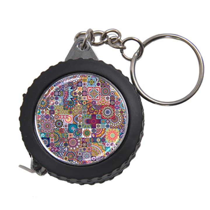 Ornamental Mosaic Background Measuring Tapes