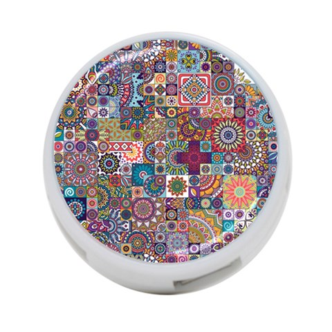Ornamental Mosaic Background 4-Port USB Hub (One Side)