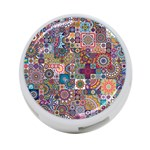 Ornamental Mosaic Background 4-Port USB Hub (One Side) Front