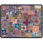 Ornamental Mosaic Background Fleece Blanket (Medium)  60 x50 Blanket Front