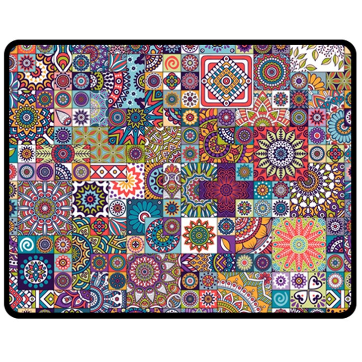 Ornamental Mosaic Background Fleece Blanket (Medium)