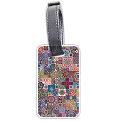 Ornamental Mosaic Background Luggage Tags (One Side)