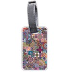 Ornamental Mosaic Background Luggage Tags (Two Sides) Back