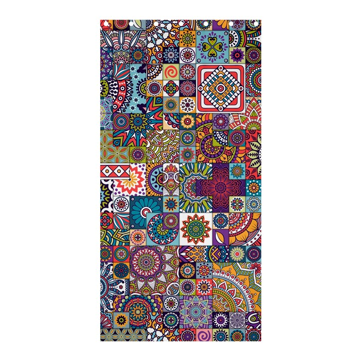 Ornamental Mosaic Background Shower Curtain 36  x 72  (Stall)