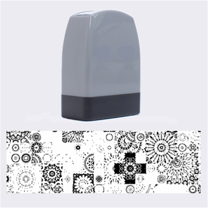 Ornamental Mosaic Background Name Stamps