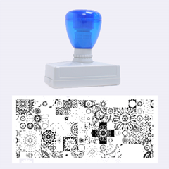 Ornamental Mosaic Background Rubber Stamps (large)