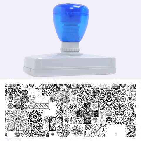 Ornamental Mosaic Background Rubber Address Stamps (XL)