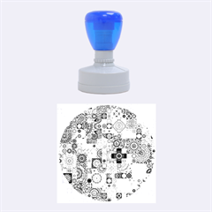 Ornamental Mosaic Background Rubber Round Stamps (medium)
