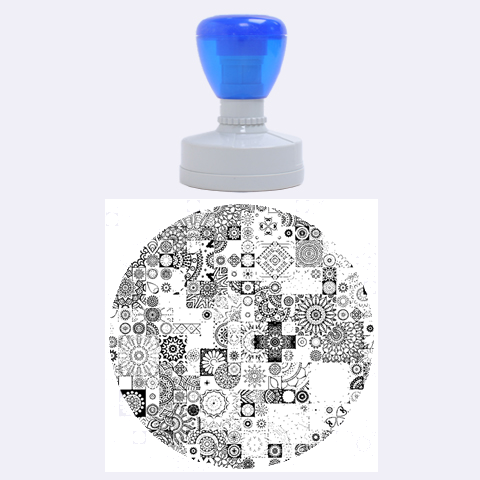 Ornamental Mosaic Background Rubber Round Stamps (Large)