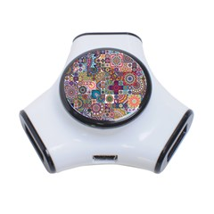 Ornamental Mosaic Background 3 Port Usb Hub