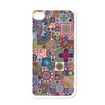Ornamental Mosaic Background Apple iPhone 4 Case (White) Front