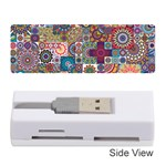 Ornamental Mosaic Background Memory Card Reader (Stick)  Front