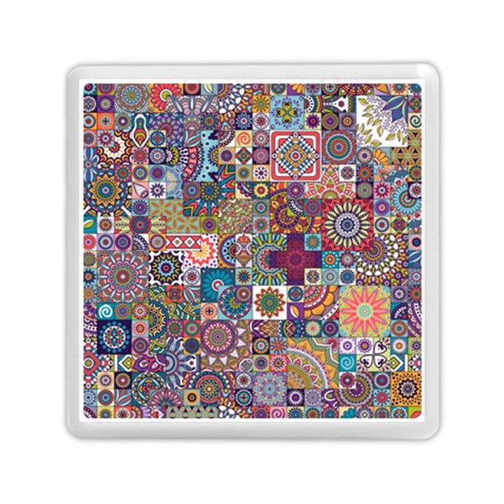 Ornamental Mosaic Background Memory Card Reader (Square)