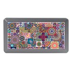 Ornamental Mosaic Background Memory Card Reader (Mini) Front