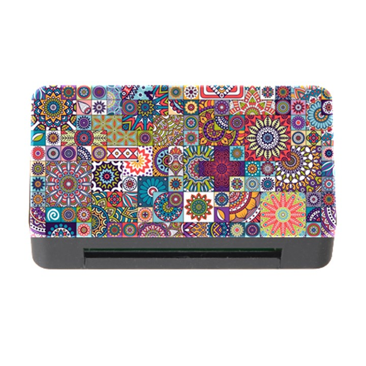 Ornamental Mosaic Background Memory Card Reader with CF
