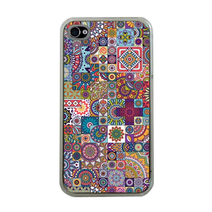 Ornamental Mosaic Background Apple iPhone 4 Case (Clear)