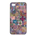 Ornamental Mosaic Background Apple iPhone 4/4s Seamless Case (Black) Front